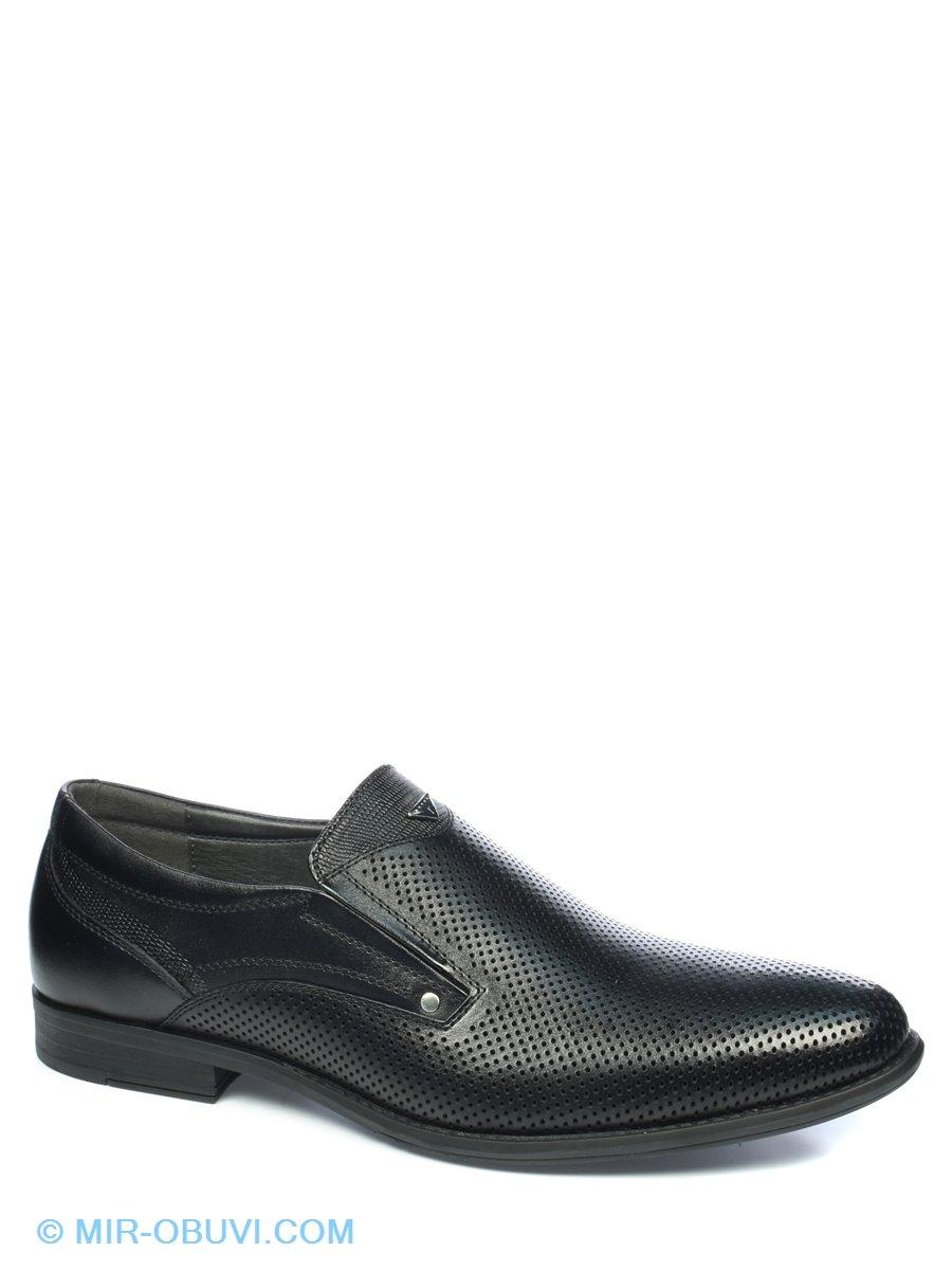 Трехмерный обзор  Мужские Модельные туфли Rieker. Цвет чёрный. Материал  натуральная кожа. Вид 1. 9848cb3db3e52